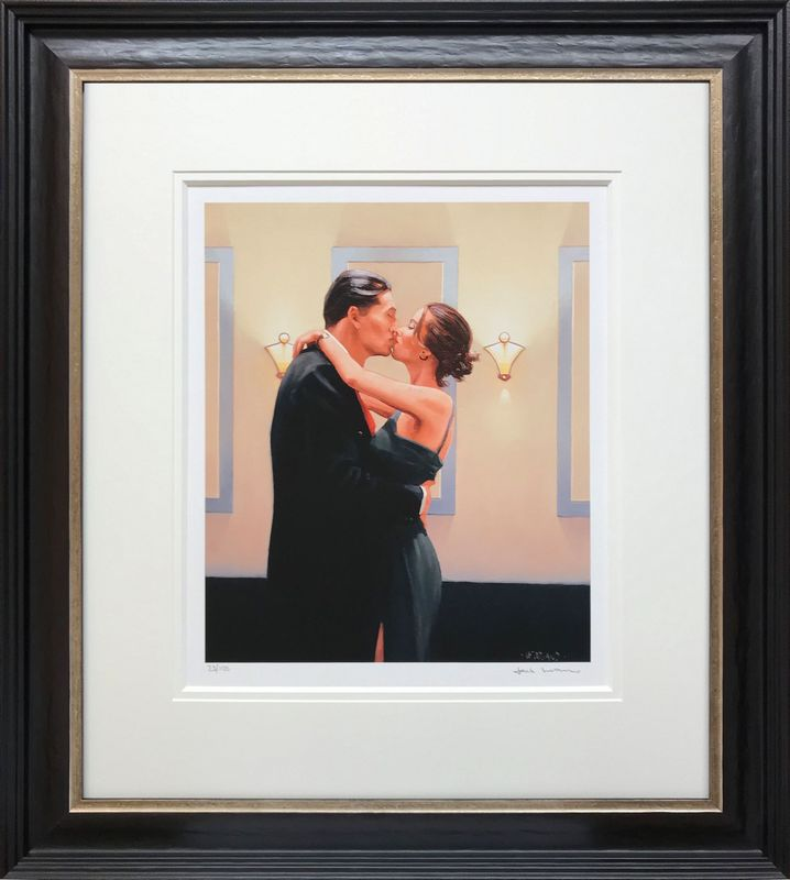 Betrayal - First Kiss - Framed by Jack Vettriano