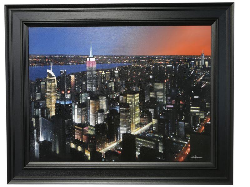 Big Apple - Black - Framed by Neil Dawson
