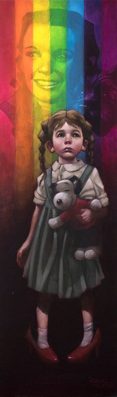 Birds Fly Over The Rainbow - Artist Proof - Mounted by Craig Davison