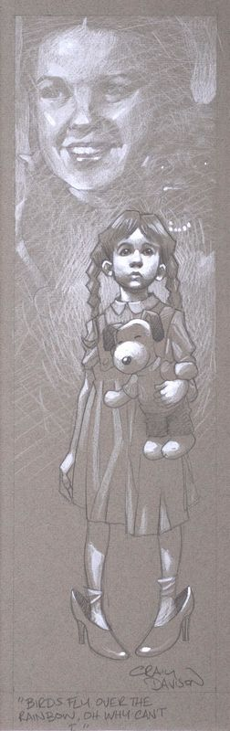 Birds Fly Over The Rainbow - Sketch - Mounted by Craig Davison