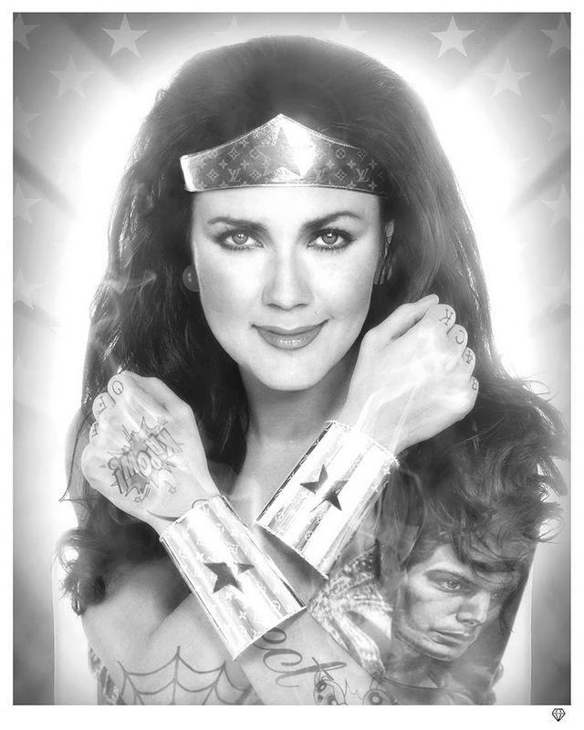 Black And White Wonder Woman by JJ Adams
