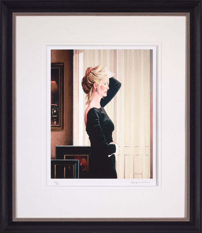 Black on Blonde - Framed by Jack Vettriano