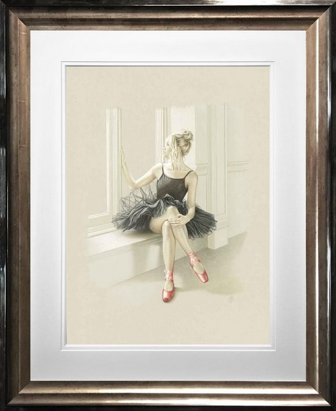 Black Swan I - Framed by Kay Boyce