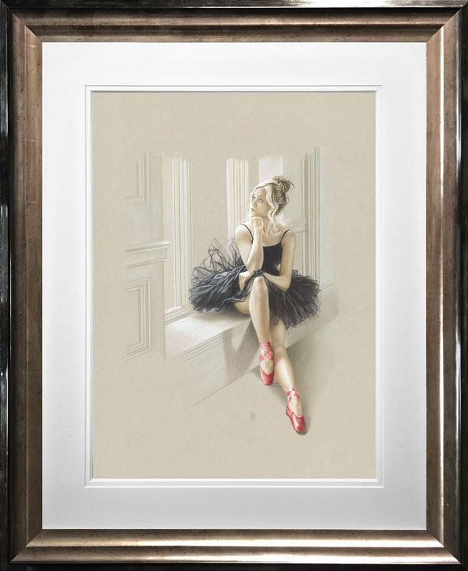 Black Swan II - Framed by Kay Boyce