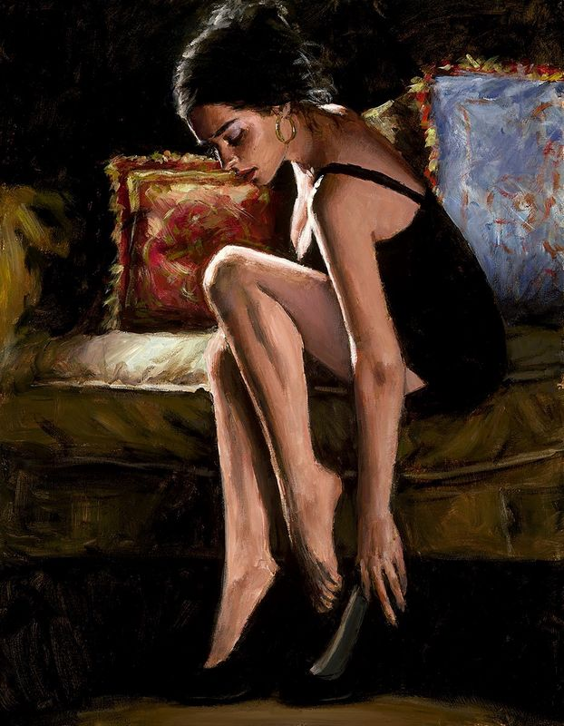 Blue And Red III - Board Only by Fabian Perez