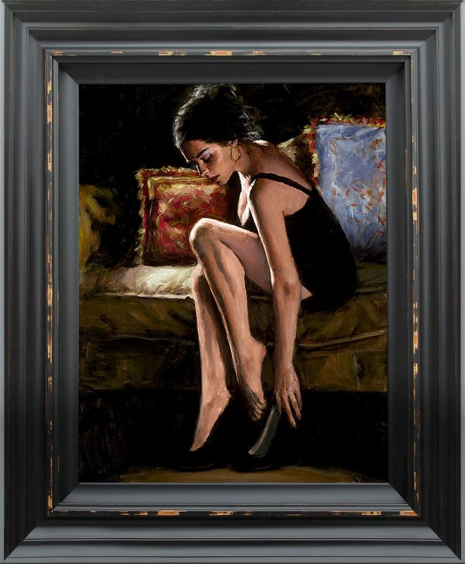 Blue And Red III - Framed by Fabian Perez