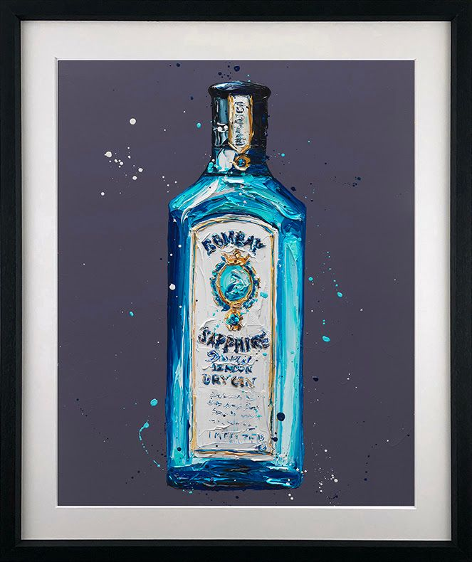 Bombay Sapphire - Artist Proof Black - Framed by Paul Oz