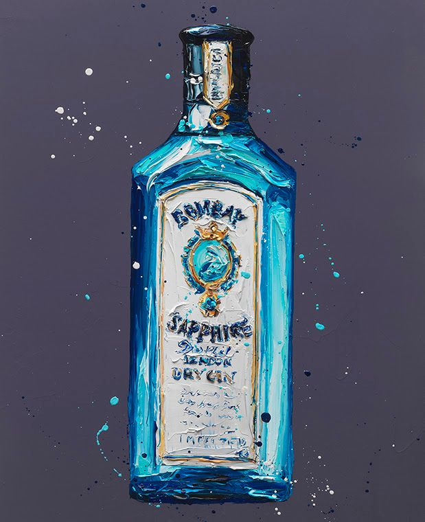 Bombay Sapphire - Original - Black - Framed by Paul Oz