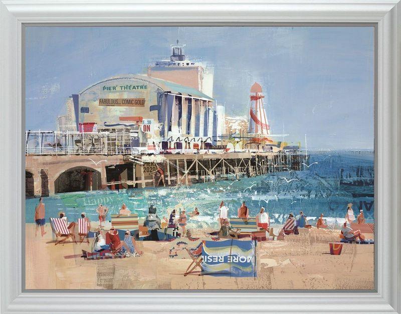 Bourne For The Beach - White - Framed by Tom Butler