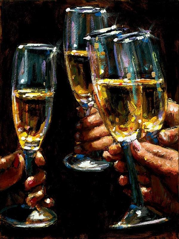 Brindis Con Champagne - Vertical  by Fabian Perez