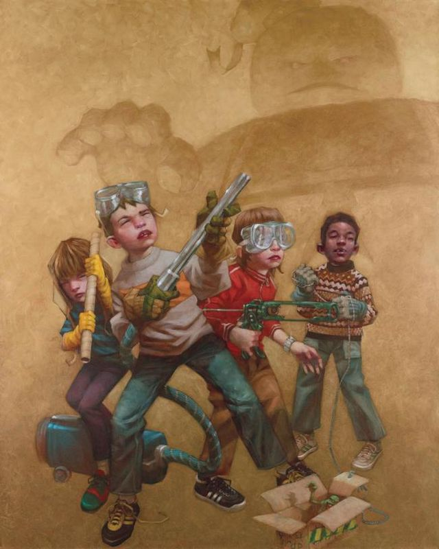 Bustin' Makes Me Feel Good - Canvas - With slip by Craig Davison