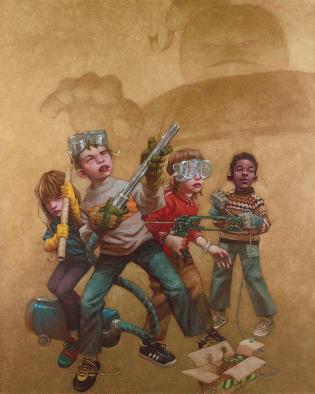 Bustin' Makes Me Feel Good - Canvas - With slip by Craig Davison