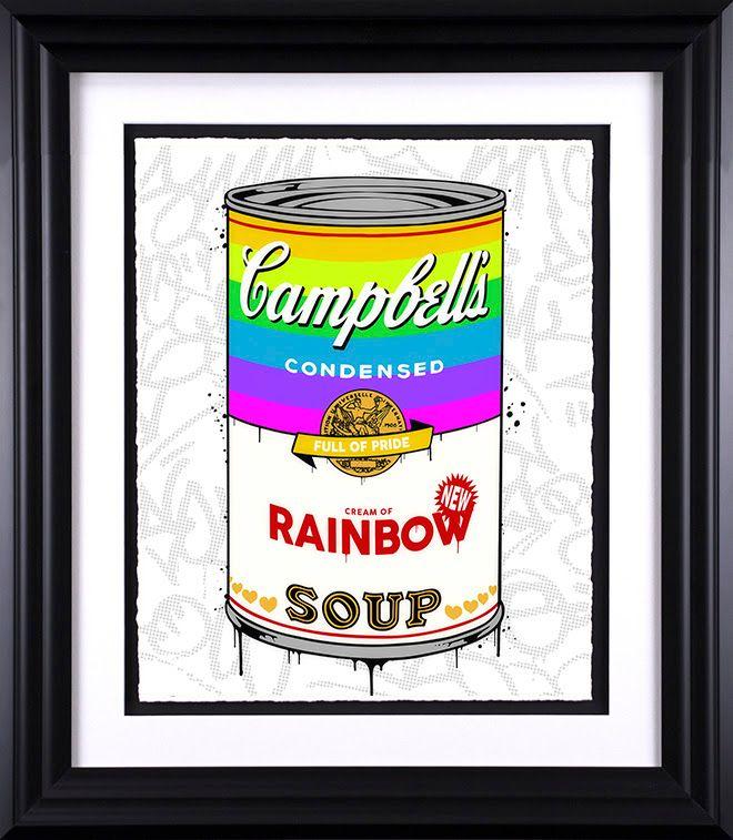 Campbell's Rainbow Soup - Black - Framed by JJ Adams