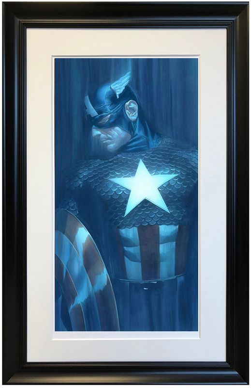 Captain America - Shadows Collection - Printers Proof Framed by Alex Ross