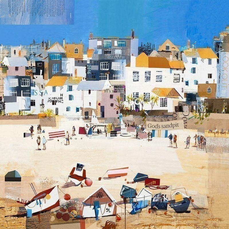 Castles, St Ives Beach by Tom Butler