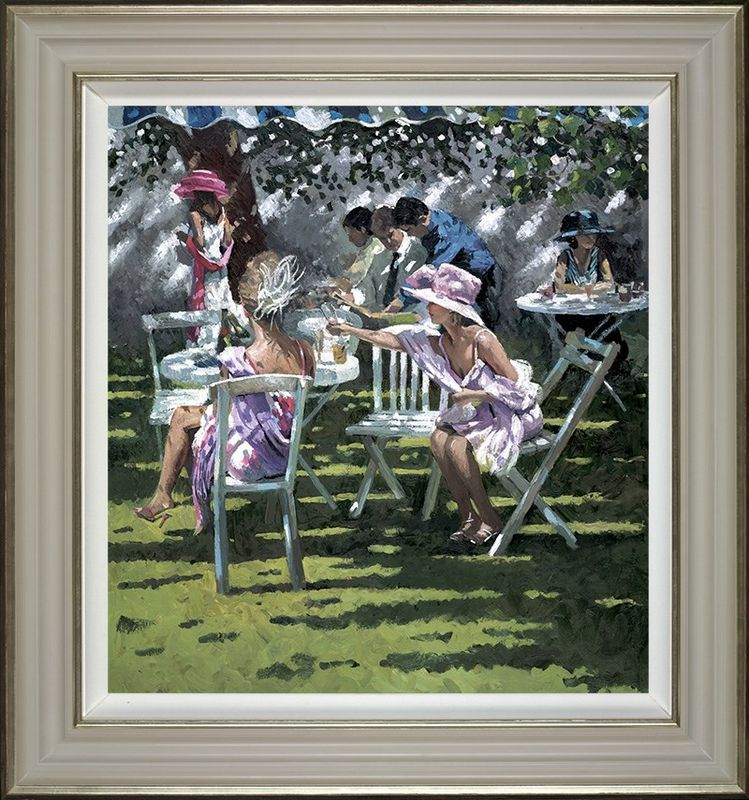 Champagne In The Shadow - Framed by Sherree Valentine Daines