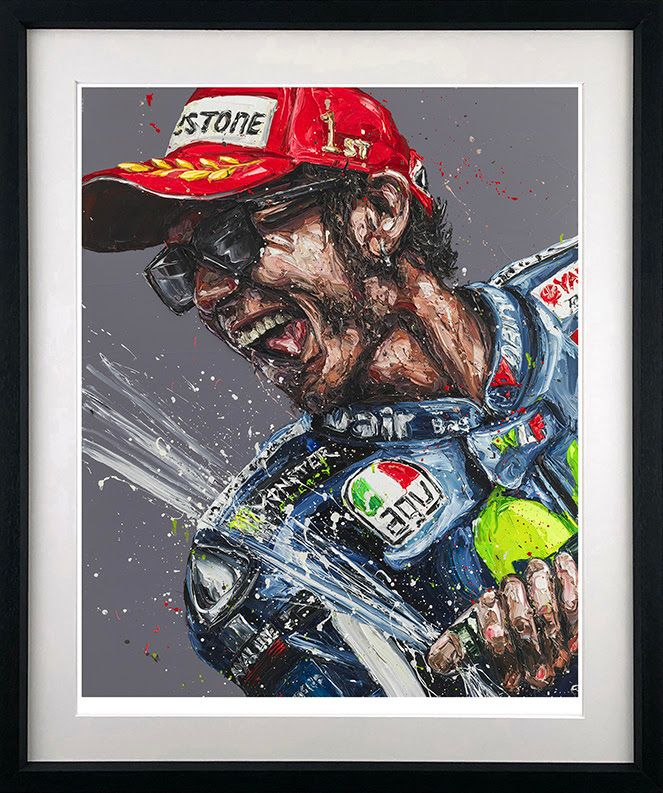 Champagne Rossi - Artist Proof Black - Framed by Paul Oz