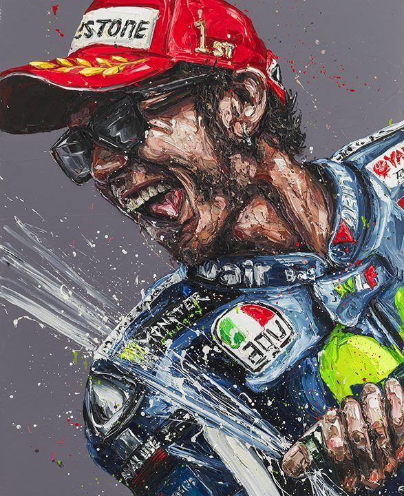 Champagne Rossi (Valentino Rossi) by Paul Oz