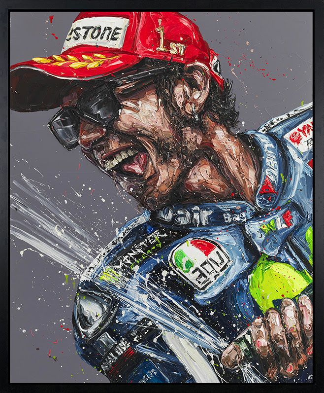 Champagne Rossi - Canvas - Artist Proof Black Framed Box Canvas by Paul Oz