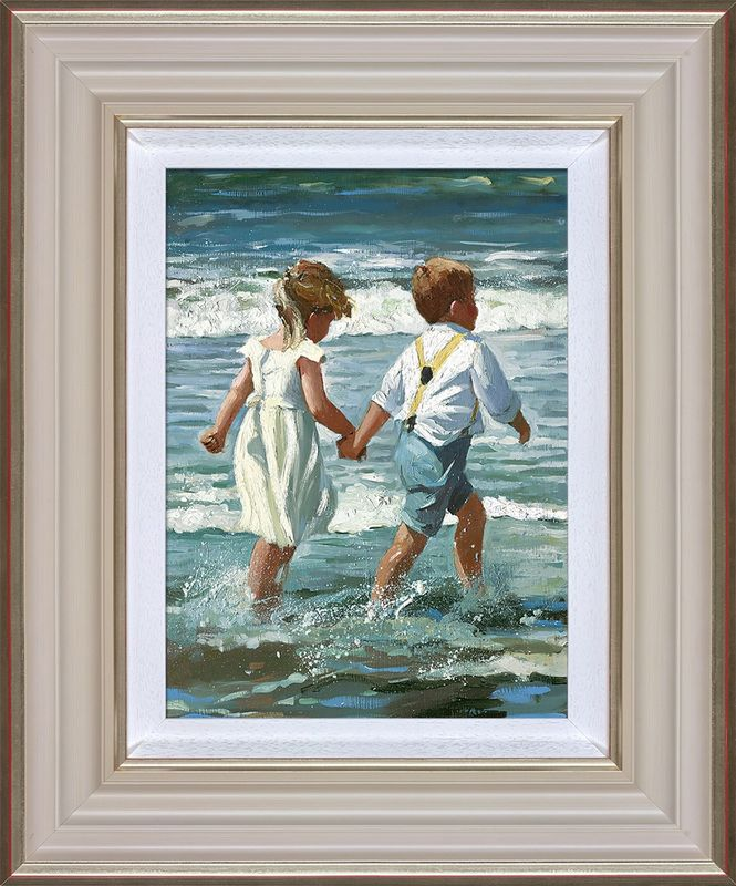 Chasing The Waves - Framed by Sherree Valentine Daines