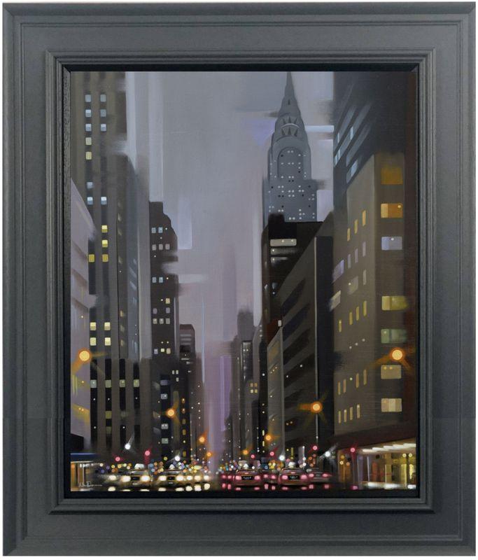 Chrysler - Canvas - Grey - Framed by Neil Dawson