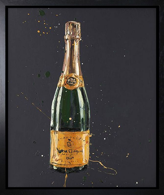 Clicquot - Canvas - Black - Framed by Paul Oz