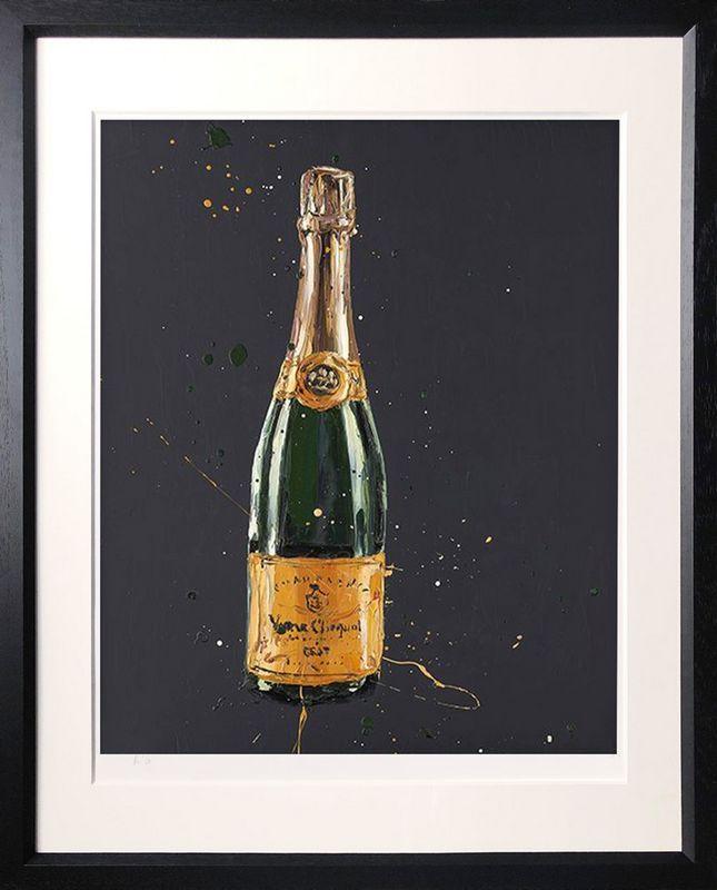 Clicquot - Black - Framed by Paul Oz