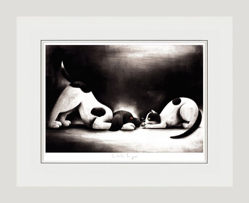 Close To You - White Framed by Doug Hyde