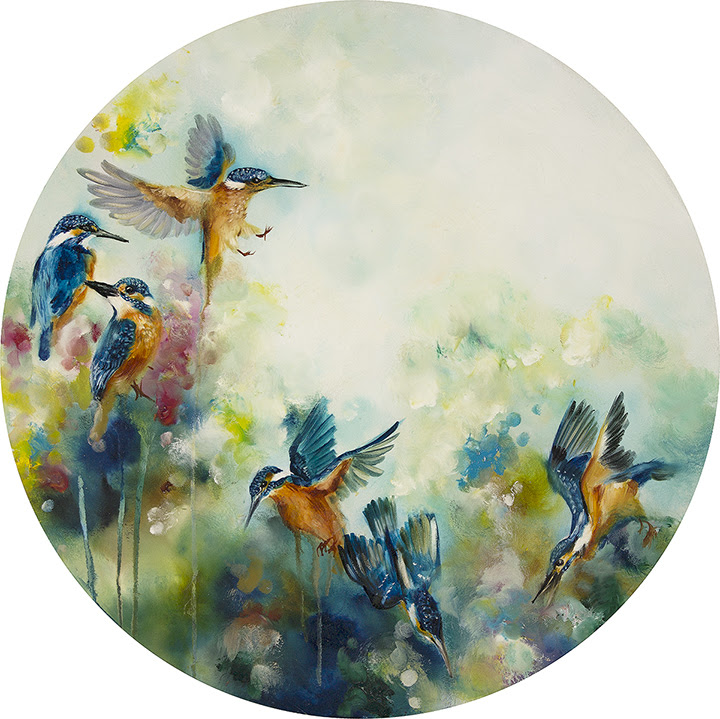 Concentration (Kingfishers) (Large) by Katy Jade Dobson