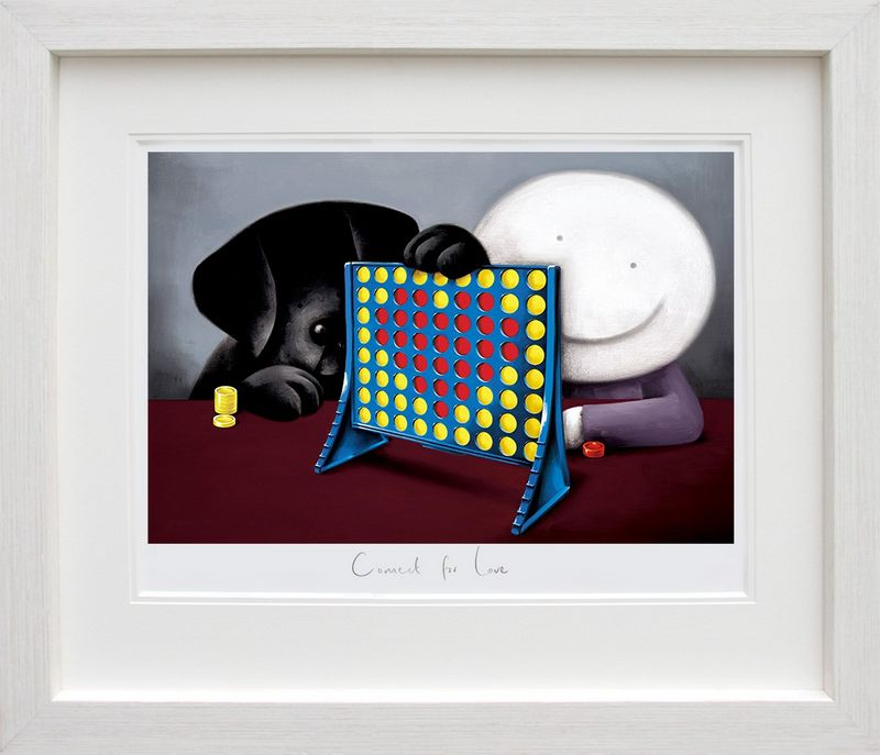 Connect For Love - White Framed by Doug Hyde