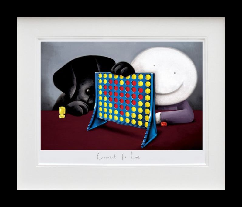 Connect For Love - Black Framed by Doug Hyde