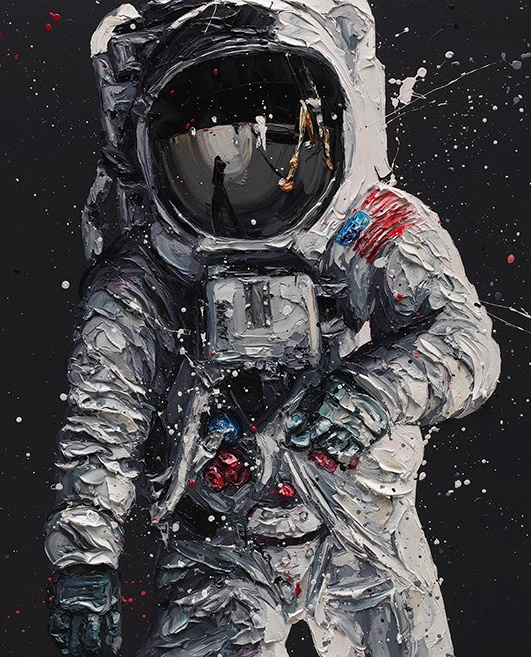 Contact Light (Buzz Aldrin) - Canvas - Framed by Paul Oz