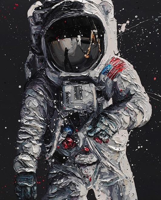 Contact Light (Buzz Aldrin) - Framed by Paul Oz