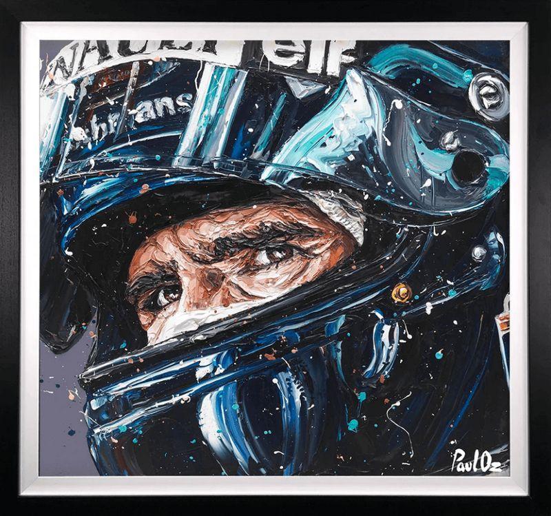 Damon Hill - Original - Black Framed by Paul Oz