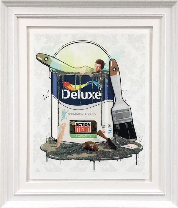 Deluxe Paint Can - Action Man - Framed by JJ Adams