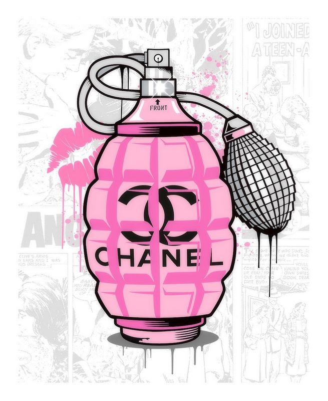 Designer Grenades - Chanel Perfume - Artist Proof - Mounted by JJ Adams