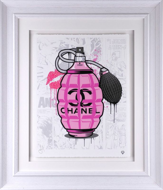 Designer Grenades - Chanel Perfume - Artist Proof - Framed by JJ Adams