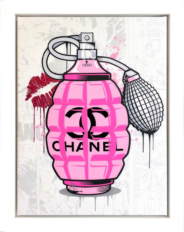 Designer Grenades - Chanel Perfume - Original - Framed by JJ Adams