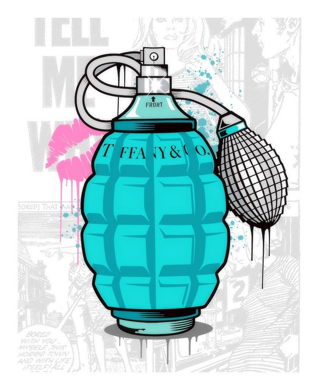 Designer Grenades - Tiffany And Co. Perfume - Artist Proof - Mounted by JJ Adams
