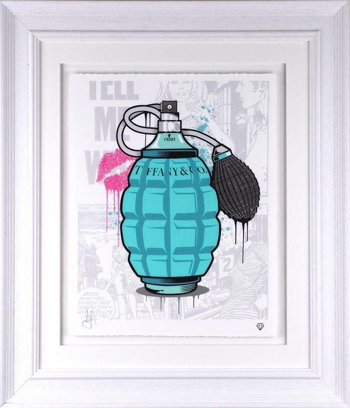 Designer Grenades - Tiffany And Co. Perfume - Artist Proof - Framed by JJ Adams