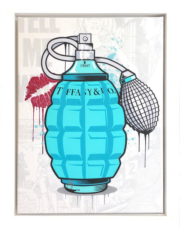 Designer Grenades - Tiffany And Co. Perfume - Original - Framed by JJ Adams