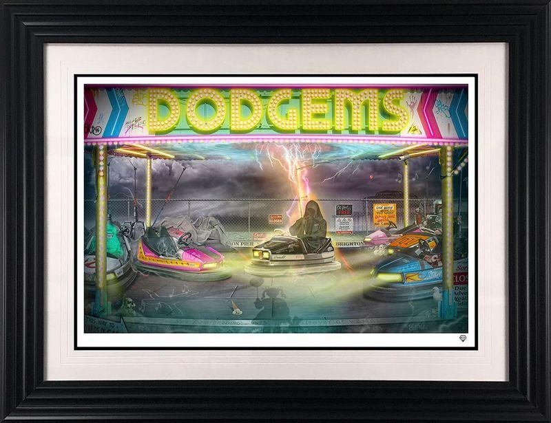 Dodgems - Black - Framed by JJ Adams