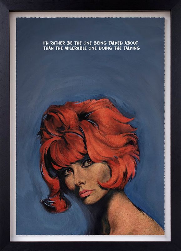 Doing The Talking - Standard Edition - Artist Proof - Black Framed by Mr Controversial