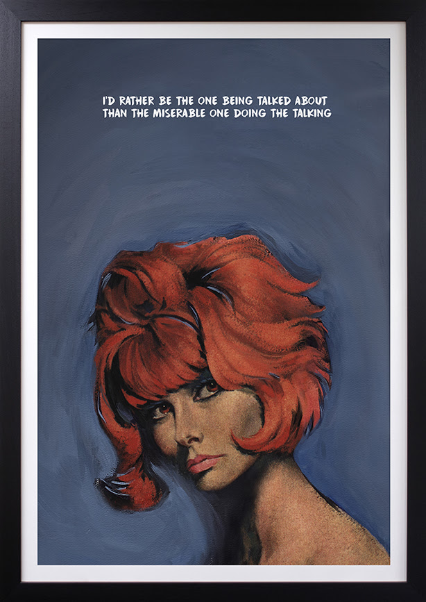 Doing The Talking - Deluxe Edition - Artist Proof - Black - Framed by Mr Controversial