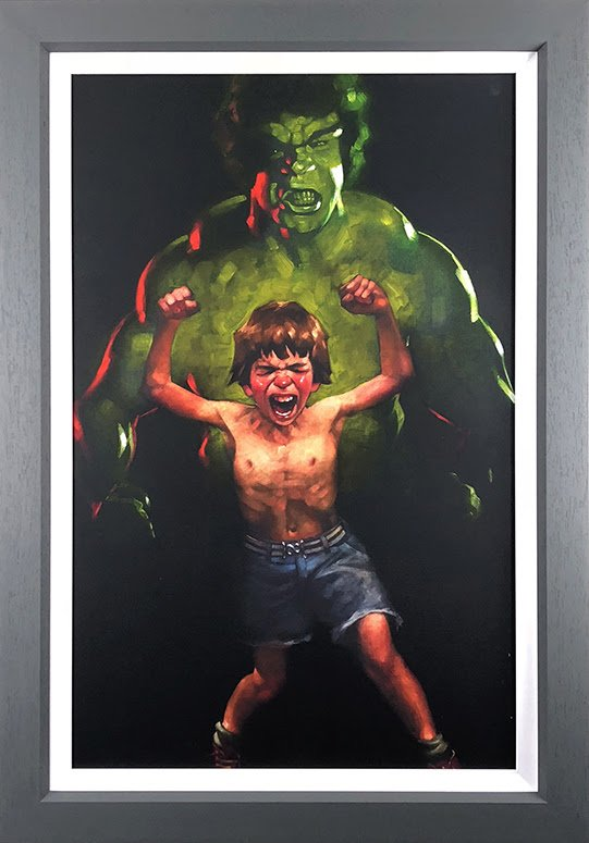 Dr Bruce Banner is Bathed in the Full Force of the Mysterious Gamma Rays (Incredible Hulk) - Canvas - Framed by Craig Davison