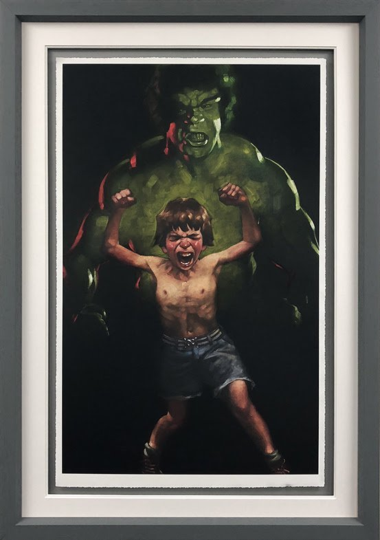 Dr Bruce Banner is Bathed in the Full Force of the Mysterious Gamma Rays (Incredible Hulk) - Paper - Framed by Craig Davison