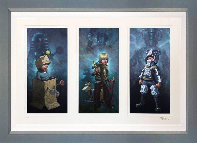Dr. Who Triptych  - Framed by Craig Davison