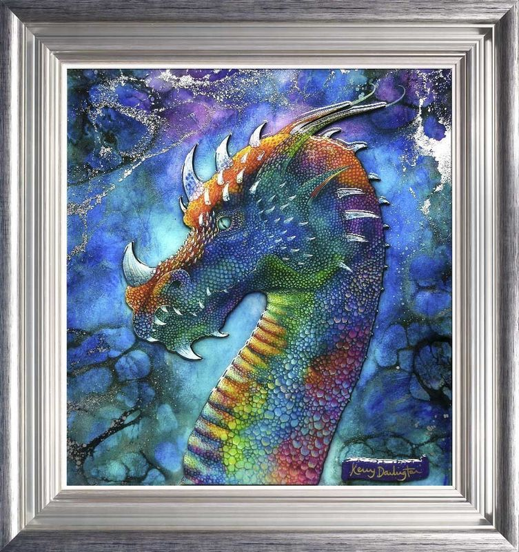 Dragon Of Hidden Treasures - Framed by Kerry Darlington