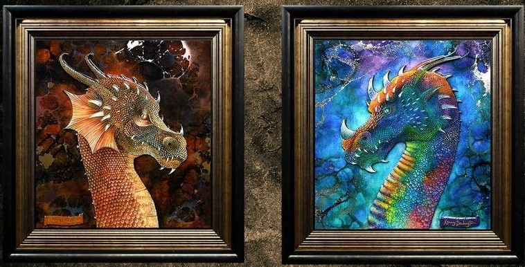 Dragons - Set Of 2 by Kerry Darlington