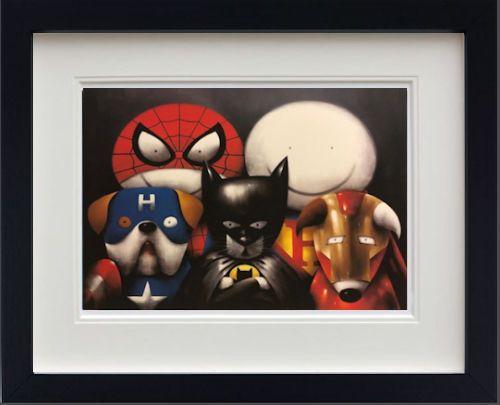 Dream Team! - In Black - Framed by Doug Hyde